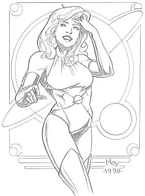 cartoon girl superhero. Saturn girl is another of the